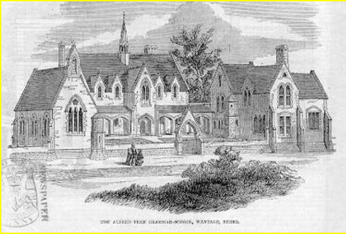 The School's architect was J B Clancy of Reading; this sketch appeared in the Illustrated London Evening News in 1850.
